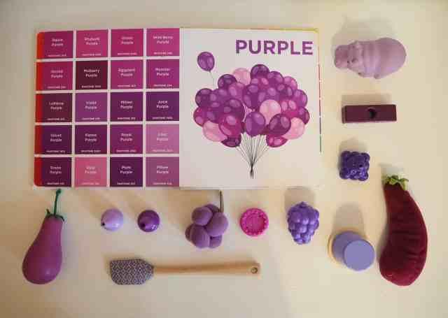 認識色票顏色小遊戲-紫色