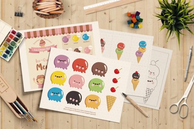 限時免費下載)冰淇淋 數字與顏色配對遊戲(二)