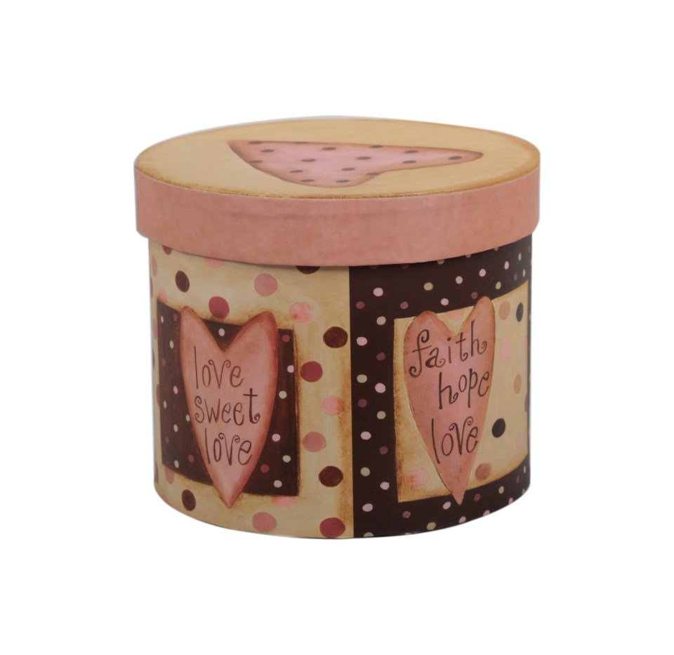 Pink Heart Printed Box- 7AED