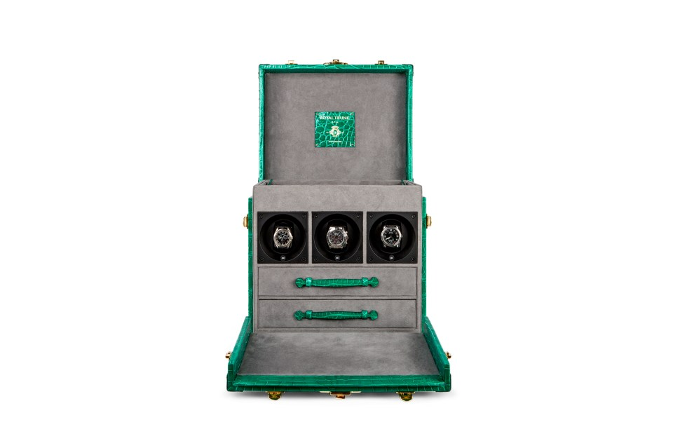 The Royal Trunk – Firenze with Automatic Watch Winders2