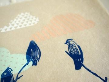 Bluebird clouds, Linout Print, Limited Editon