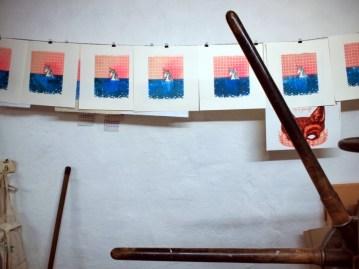 Badendes Einhorn, 2013, Linocut, 30x30cm, Limited Edition