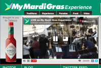 clever marketing - live mardi gras as it happens
