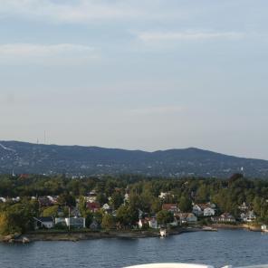 Sprungschanze Holmenkollen auf dem Berg Oslo