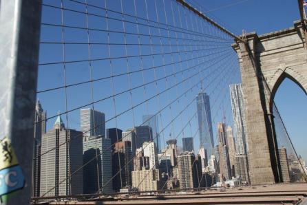 Blick Richtung Manhattan New York