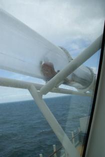 Wasserrutsche AIDAprima Meer Aussicht View Außenbereich Rutsche