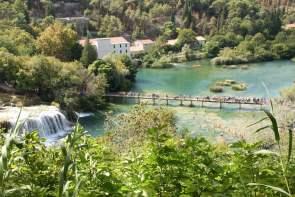 Badestelle am Skradinski buk Freizeit Baden Schwimmen Nationalpark Krka Kroatien
