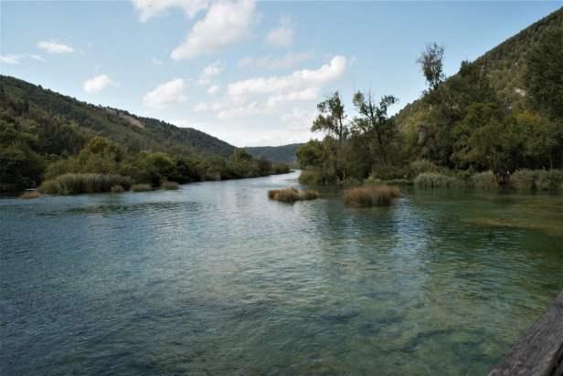 Unterhalb vom Skradinski buk Nationalpark Krka Kroatien