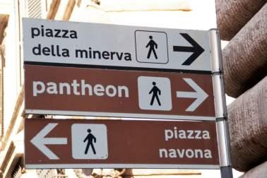 Wegweiser Rom