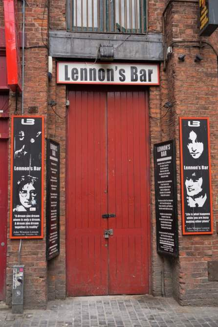 Lennon's Bar in der Mathew Street Liverpool