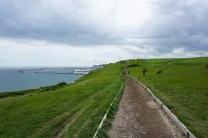 Wanderweg Dover Wiese Meer
