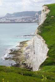 Die Kreidefelsen von Dover Meer Wiese Ausblick Panorama cliffs