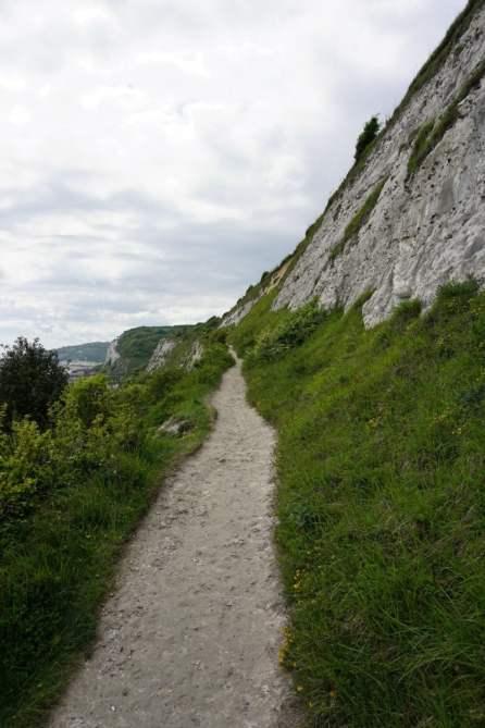 Wanderweg Dover Wiese Klippe
