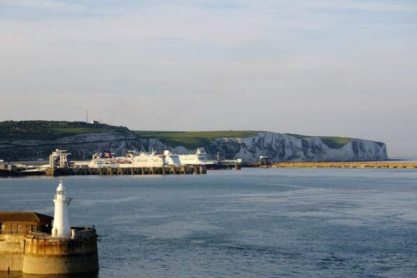 Abendstimmung sail away Aida Hafen Meer the white cliffs Dover