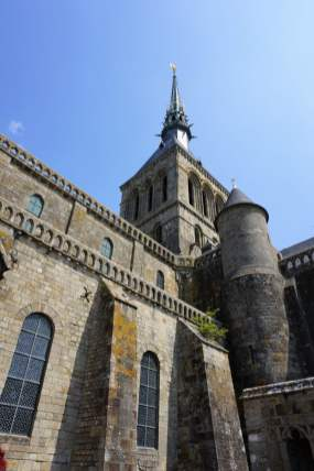 Abtei Kirche Mont-Saint-Michel Seite