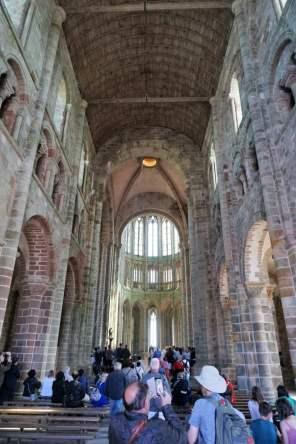 Abtei Kirche Mont-Saint-Michel von innen
