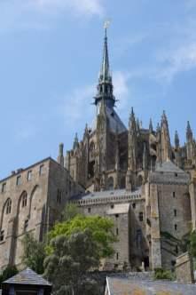 Blick auf die Abtei Mont-Saint-Michel
