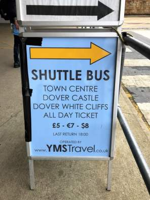 Dover Hafen Shuttle Bus Preise town centre dover castle all day ticket yms travel