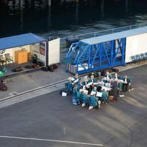 Abschiedsständchen Sail Away AIDA Isle of Portland