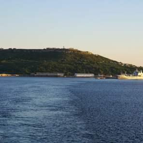 Hafen von Portland mit der Verne Zitadelle im Hintergrund Sail Away AIDA Isle of Portland