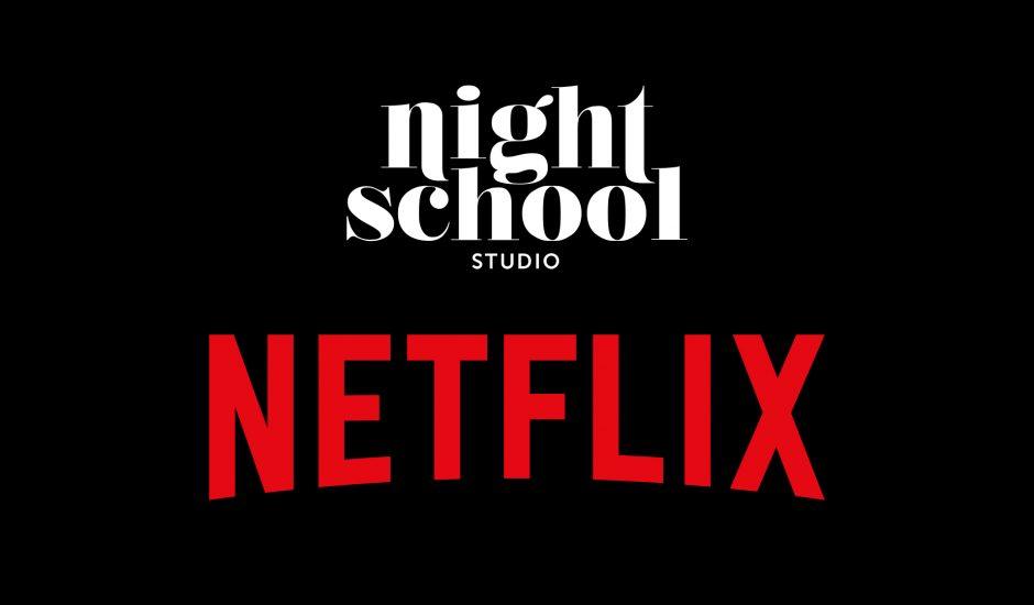 logo de Night School et Netflix