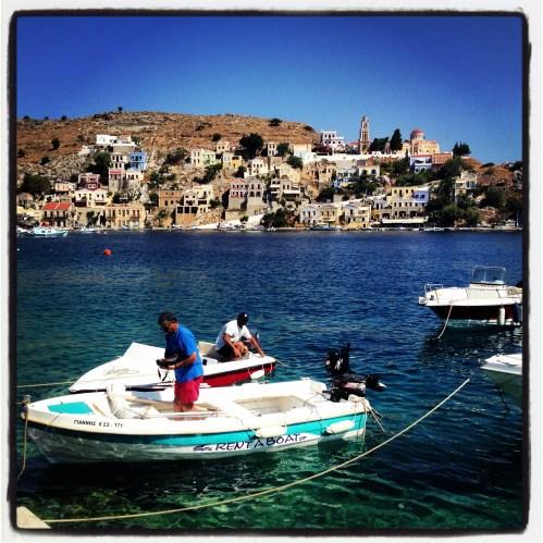 Bateaux amarrés gros plan - Limnos - 3 îles grecques - Destination, Grèce