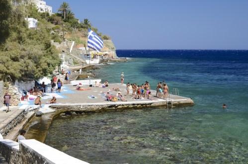 Bord de mer gros plan - Syros - 3 îles grecques - Destination, Grèce