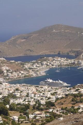Ville plan large - Patmos - 3 îles grecques - Destination, Grèce