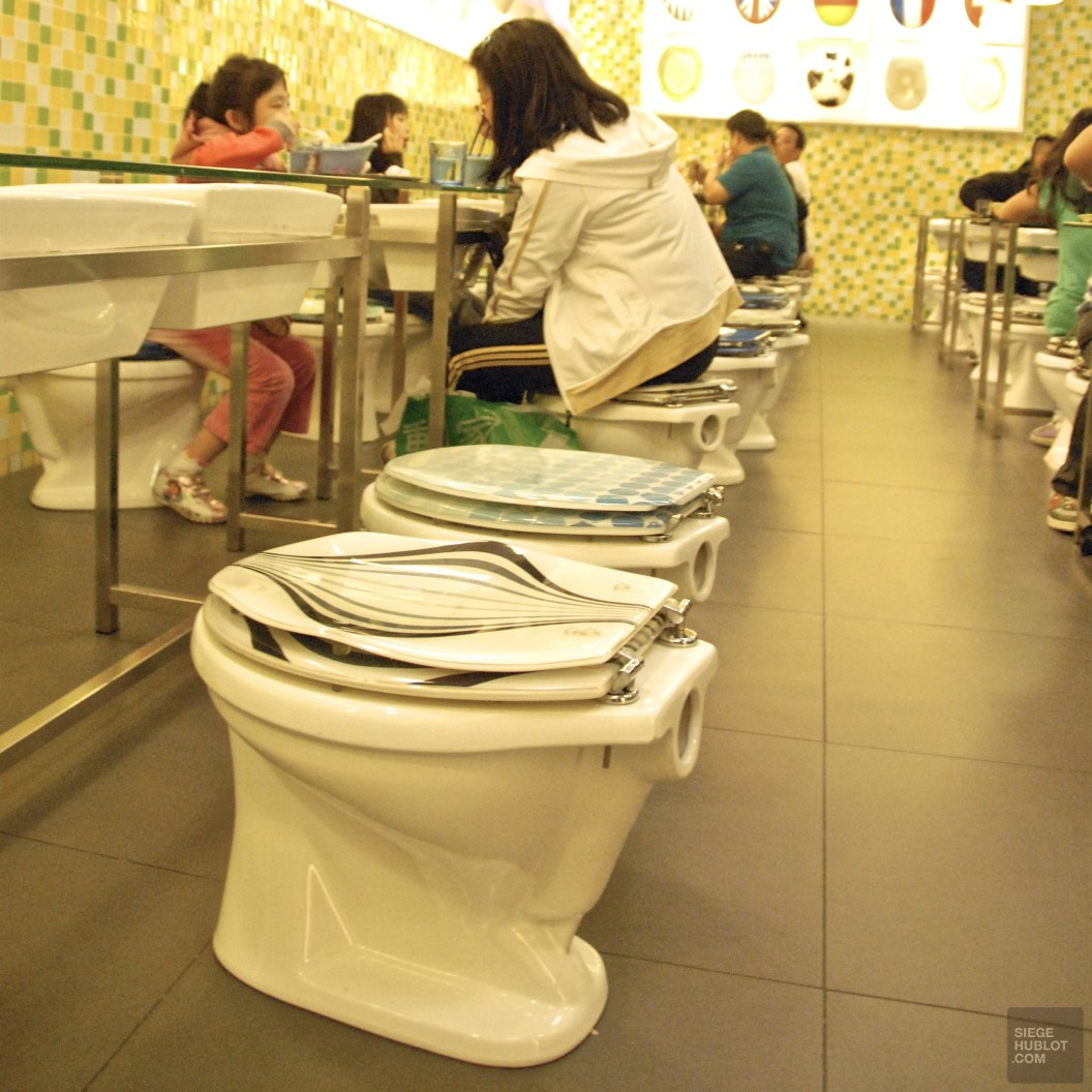 toilets and more toilets - Un resto qui a du bol - videos, restos, chine, asie, a-faire