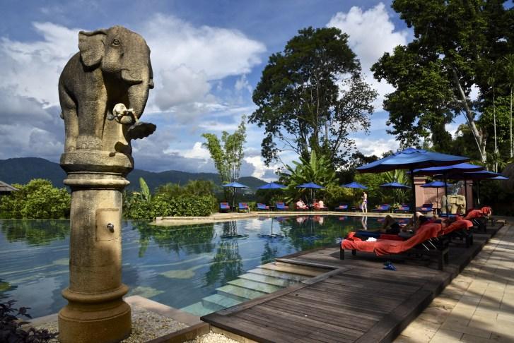 pool anantara - Il danse avec les éléphants - thailande, hotels, a-faire