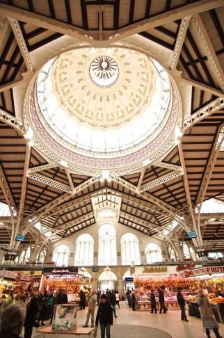 Architecture plafond - Marché central - Mon coeur Valence - Europe,Espagne