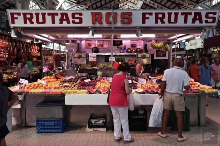 kiosque fruits - Marché central - Mon coeur Valence - Europe,Espagne