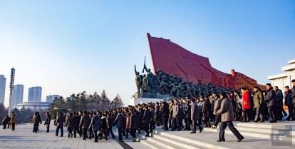 monument armee - pyongyang - Coree du Nord, l'envers de la medaille - Asie, Coree du Nord