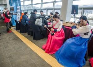 musique traditionnel instrument spectacle flute - Train haute vitesse - Un petit saut aux Olympiques - Asie, Corée du Sud