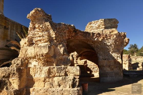 carthage ensemble thermal romain - Les Thermes d'Antonin - Tunisie, de la mer au désert - Afrique, Tunisie
