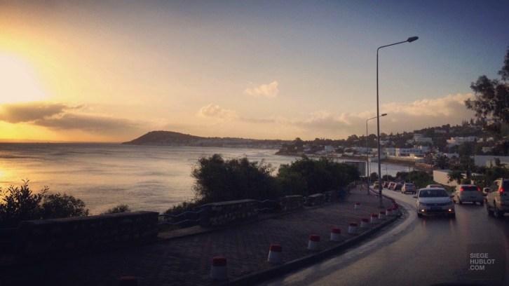 route plage matin - La Marsa - Tunisie, de la mer au désert - Afrique, Tunisie