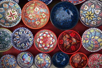 souk bols céramique - Tunis - Tunisie, de la mer au désert - Afrique, Tunisie