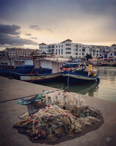 vieux port bateau - Tabarka - Tunisie, de la mer au désert - Afrique, Tunisie