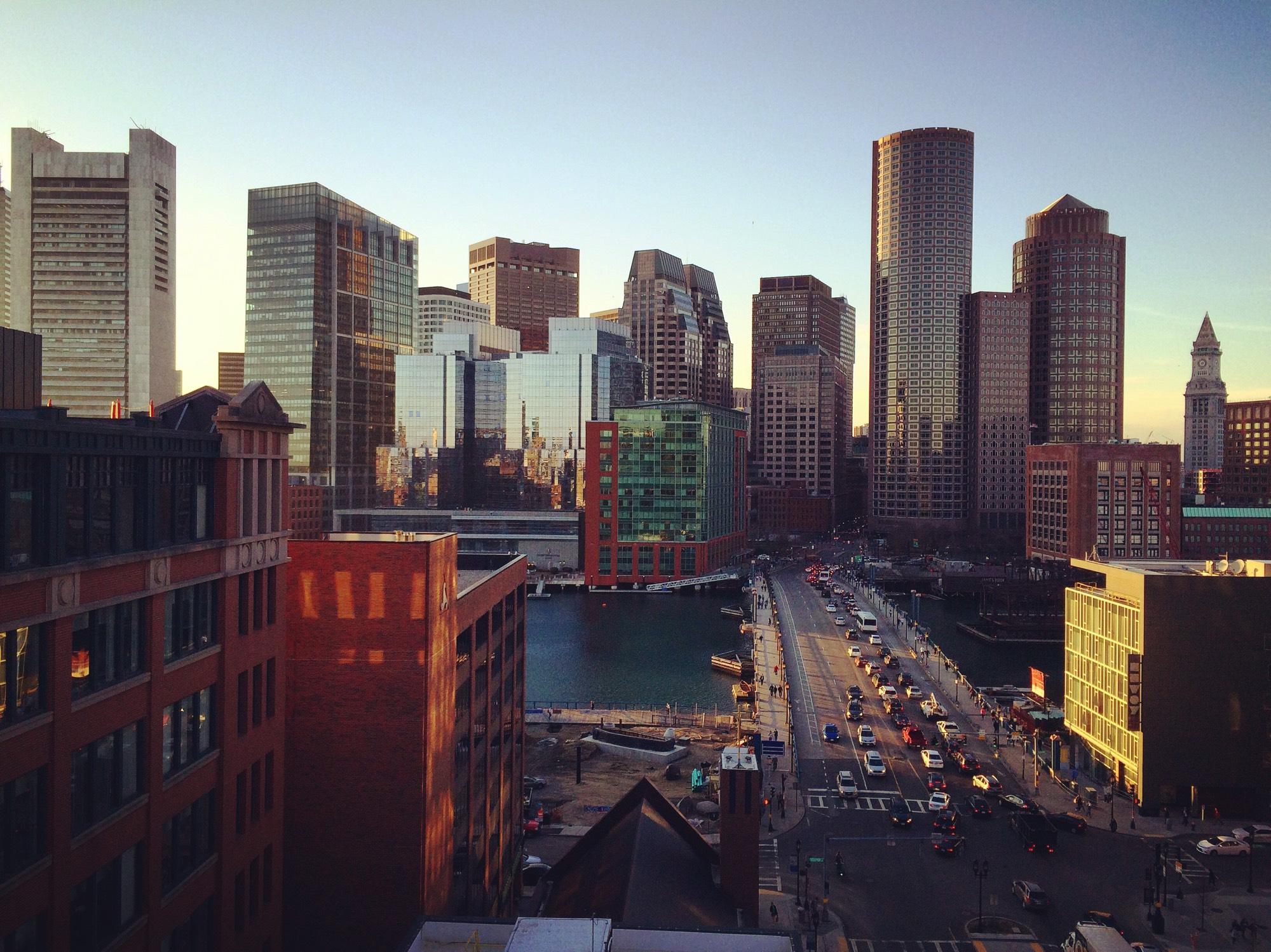 Panorama Boston - L'émergent Seaport District à Boston - Amérique, États-Unis, Massachusetts