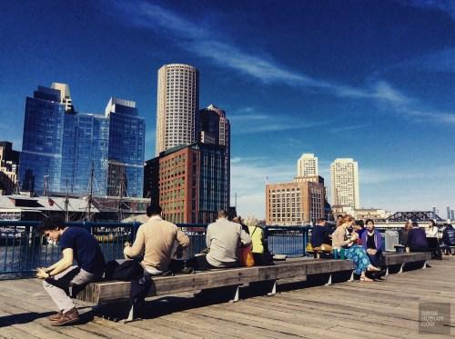 terrasse seaport - Seaport District - L'émergent Seaport District à Boston - Amérique, États-Unis, Massachusetts