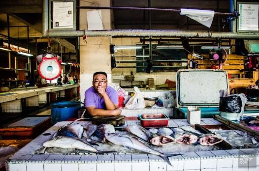 marchand de poissons - Sultanat de Brunei Darussalam - Asie, Brunei