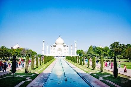 taj mahal bassin d eau - agra - L Inde du Nord en quatre étapes - Asie, Inde