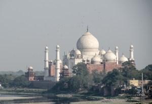 taj mahal vu du fort rouge 2 - agra - L Inde du Nord en quatre étapes - Asie, Inde