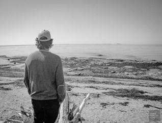 regard horizon noir et blanc - Escapade l Archipel de Mingan, Cote-Nord, Quebec - Quebec