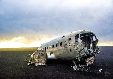 carcasse avion 1973 vik environs islande europe