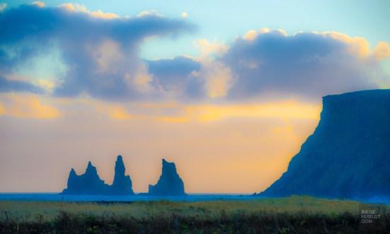 coucher de soleil Vik environs islande