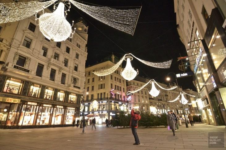 Rue décorée Vienne - Vienne, Autriche - Marchés de Noël - Europe, Autriche, République tchèque, Slovaquie