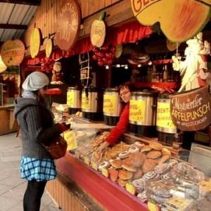 kiosque marché - Vienne, Autriche - Marchés de Noël - Europe, Autriche, République tchèque, Slovaquie