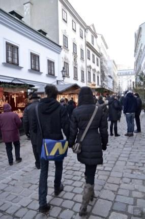 Rue piétonne - Vienne, Autriche - Marchés de Noël - Europe, Autriche, République tchèque, Slovaquie