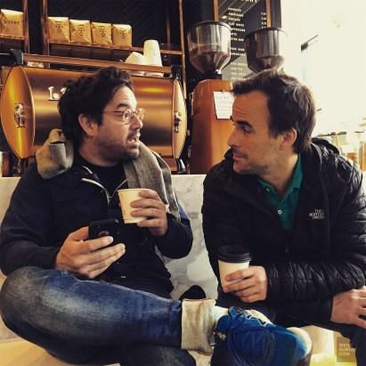 Sebastien Benoit Benoit Roberge au café - Café au Sorry - Week-end de gars à Toronto - Amérique du nord, Canada